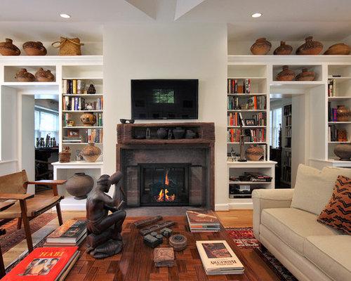 Asiatische Wohnzimmer mit Kamin - Ideen & Design  HOUZZ
