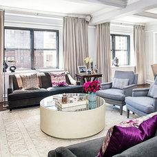 Transitional Living Room by Anjali Pollack Design