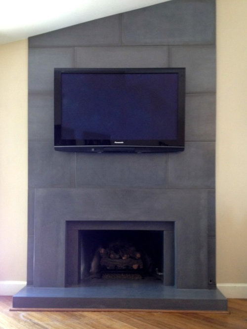 Precast Concrete Fireplace Surround Home Design Ideas Pictures Remodel And Decor