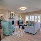 Neo Prairie Style Parade Home Transitional Living Room