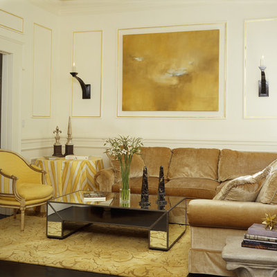 Eclectic enclosed living room photo in Other