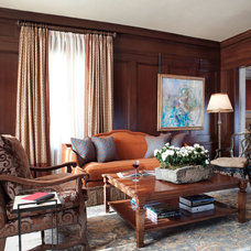 Traditional Living Room by Kathy Best Design