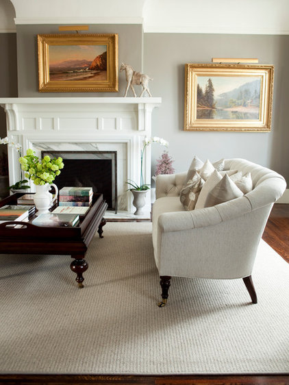 Traditional Living Room by Caitlin Wilson
