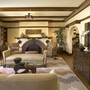 Presidio Heights Pueblo Revival - Living