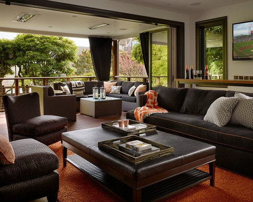 home media room designs. Example of a transitional living room design in San Francisco with white  walls and wall Best 25 Living Room Ideas Decoration Pictures Houzz