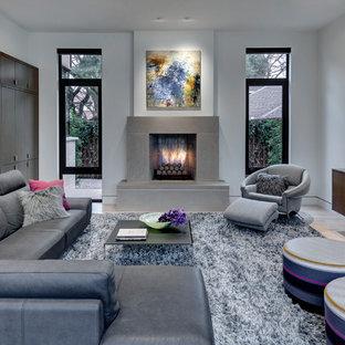 Minimalist living room photo in Dallas