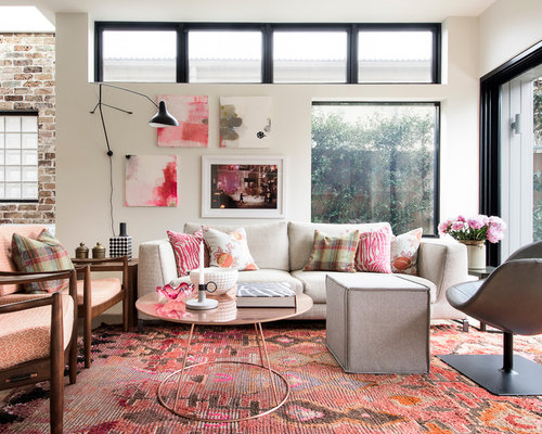 Inspiration For A Mid Sized Contemporary Formal Open Concept Living Room In  Sydney With Beige