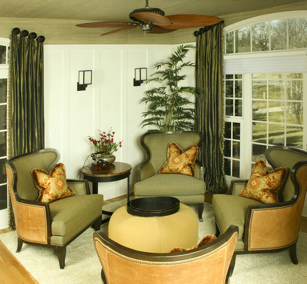 Traditional Living Room by Chelle Design Group