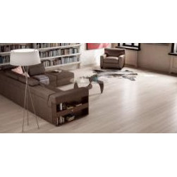 Preverco Hardwood - White Oak Quartersawn, Brushed Texture, Color-Broadway