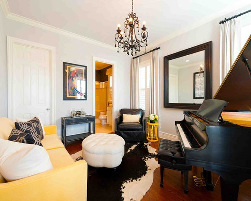 Small room grand piano design ideas remodel pictures houzz - Piano for small space decoration ...