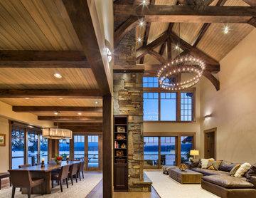 Priest Lake Beach House- Great Room & Dining Room