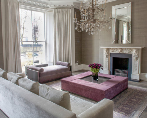 This Is An Example Of A Classic Living Room In London.