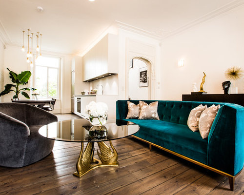 Teal Velvet Sofa Houzz