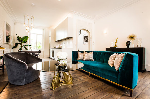 Midcentury Living Room by Jino Design Ltd