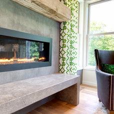 Contemporary Indoor Fireplaces by AMEK Custom Builders