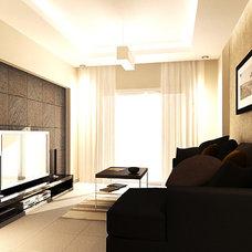 Contemporary Living Room by Islam Kamal