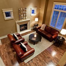 Contemporary Living Room by John Bentley