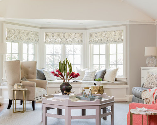 Inspiration For A Timeless Living Room Remodel In Boston With Gray Walls Part 89
