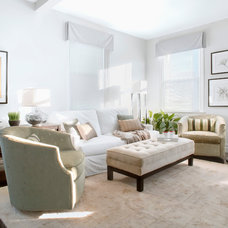 Transitional Living Room by Luminosus Designs LLC