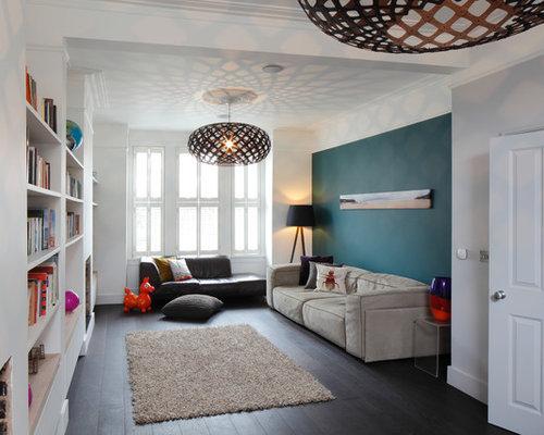 teal grey bedroom