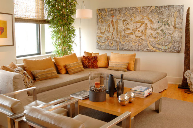 Contemporary Living Room by Leighton Design Group