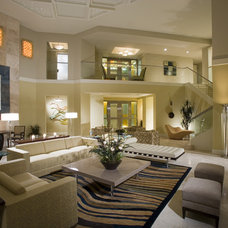 Contemporary Living Room by LCDesigns, Inc.