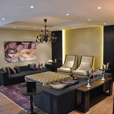 Asian Living Room by RIS-