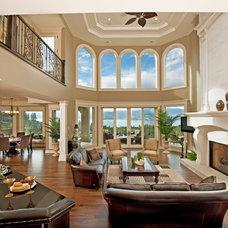 Mediterranean Living Room by Bill Frame Custom Homes Ltd
