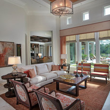 Transitional Living Room by Collins & DuPont Design Group