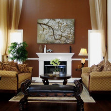 Traditional Living Room by AjjC Design