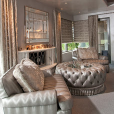 Traditional Living Room by Feathers Fine Custom Furnishings