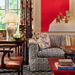 traditional living room by Rhonda Sacks Interiors