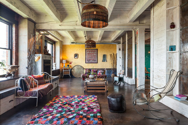 Industrial Living Room by KuDa Photography