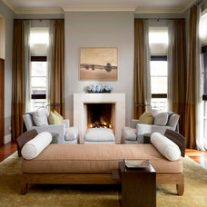 Transitional Living Room Private Residence, Chicago, IL