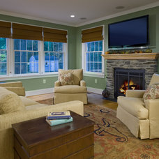 Traditional Living Room by Christine Kelly / Crafted Architecture