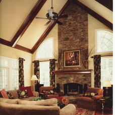 Traditional Family Room by Leslie Gross