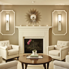 Contemporary Living Room by J & J Design Group, LLC.