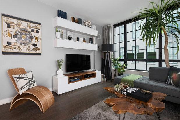 Contemporary Living Room by Carlos Andres Duenas