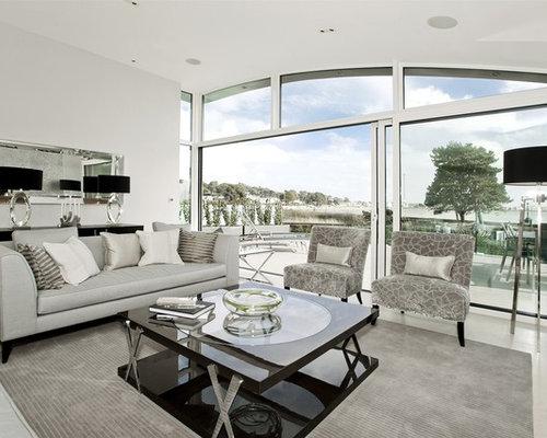 Light Blue Gray Living Room