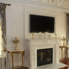 Traditional Living Room by Buffalo Plastering and Architectural Casting