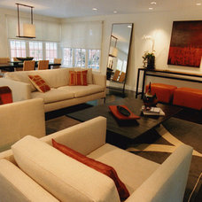 Contemporary Living Room by valerie pasquiou interiors + design, inc