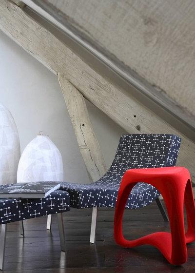Midcentury Living Room by valerie pasquiou interiors + design, inc