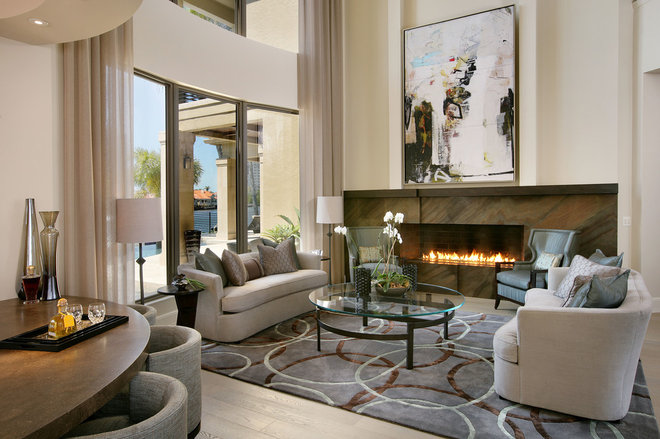 Contemporary Living Room by Collins & DuPont Design Group