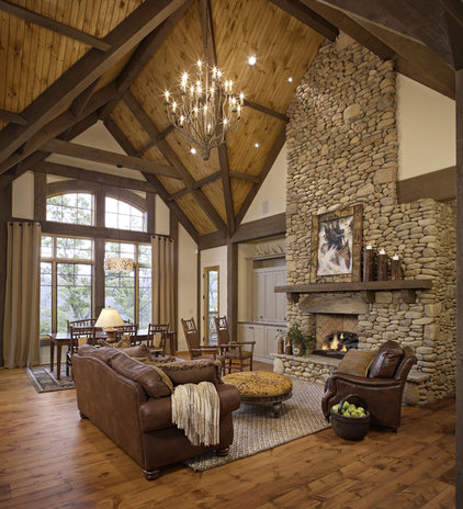 Rustic Living Room by Johnson Architecture