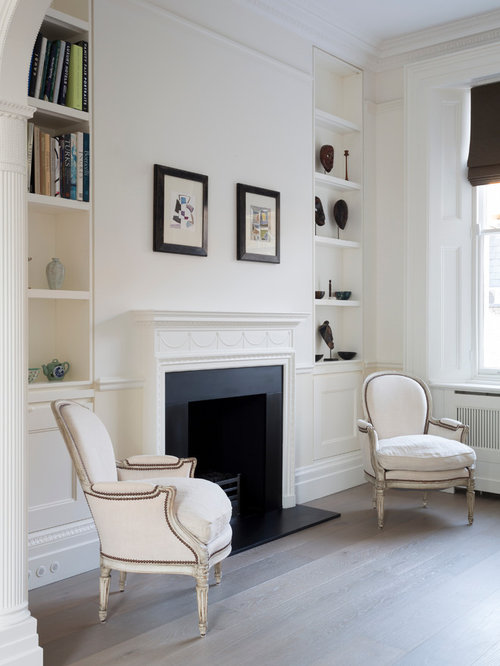 photo of a medium sized modern formal living room in london with white walls a - Contemporary Interior Design Ideas