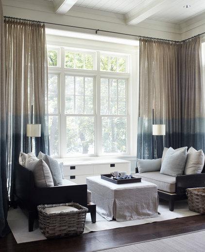 Transitional Living Room Private Residence, Lake Geneva, WI