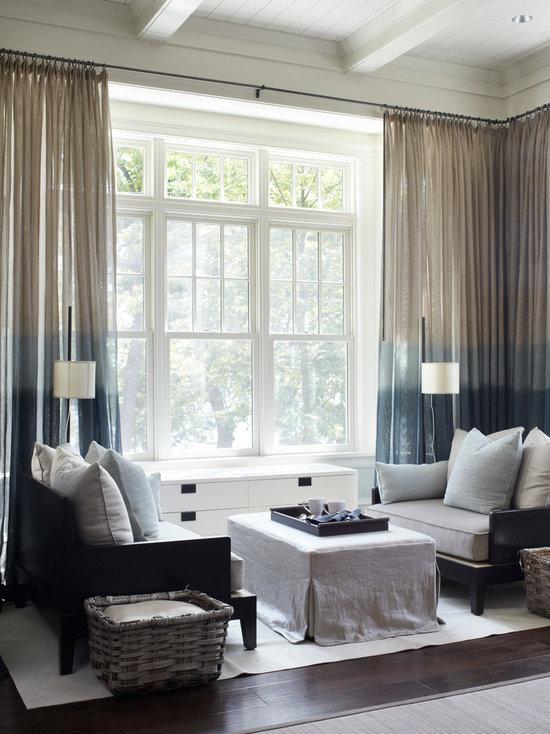 Living Room Curtain Ideas Houzz