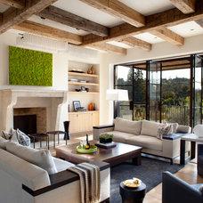 Mediterranean Living Room by Carrington Stonemasons, Inc.
