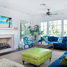 Beach Style Living Room by NuDesign Builders Inc