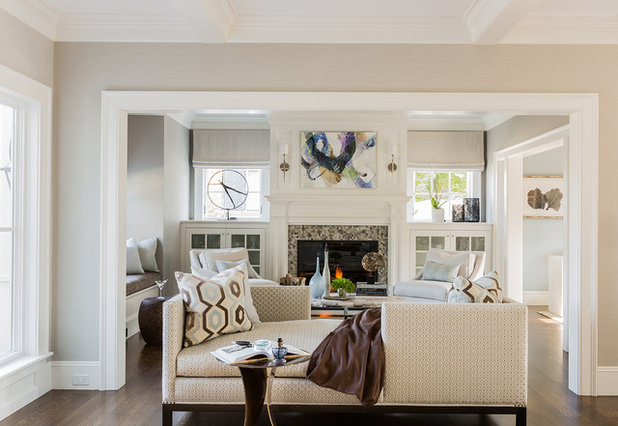 Transitional Living Room by Julia Cutler Interior Design